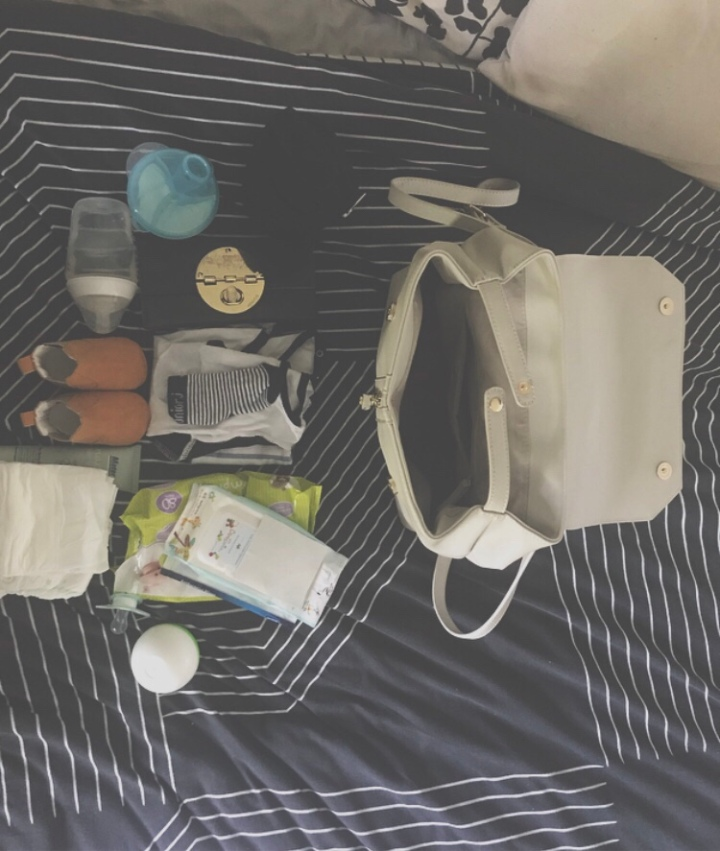 Updated what's in my nappybag
