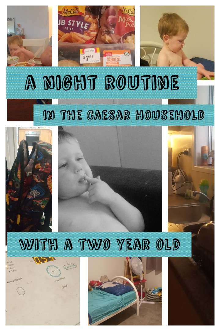 A night routine with my two year old